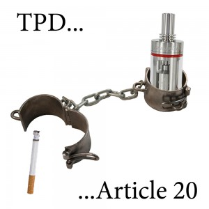 TPD Article 20 vaping limitations.