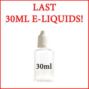 Last 30ml E-Liquids before TPD