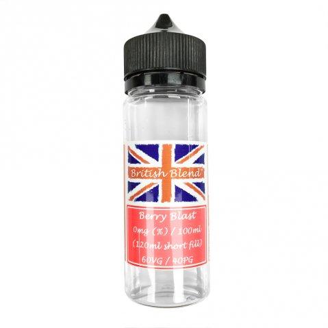 British Blend Berry Blast 100ml (120ml Short Fill) Nicotine Free E-Liquid
