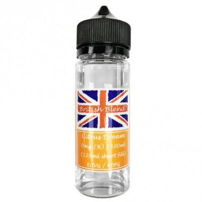 British Blend Citrus Dream 100ml (120ml Short Fill) Nicotine Free E-Liquid