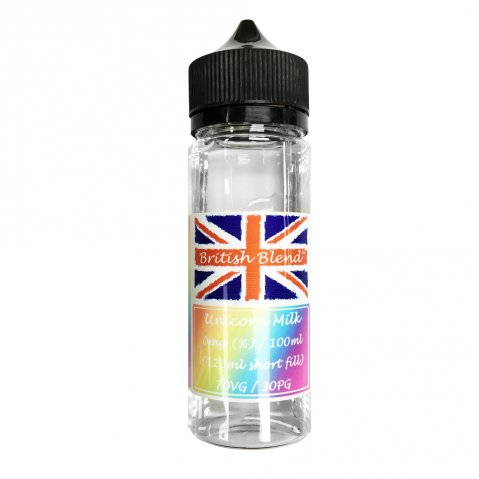 British Blend Unicorn Milk 100ml (120ml Short Fill) Nicotine Free E-Liquid