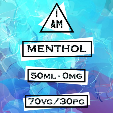 I AM Menthol 50ml (60ml Short Fill) Nicotine Free E-Liquid