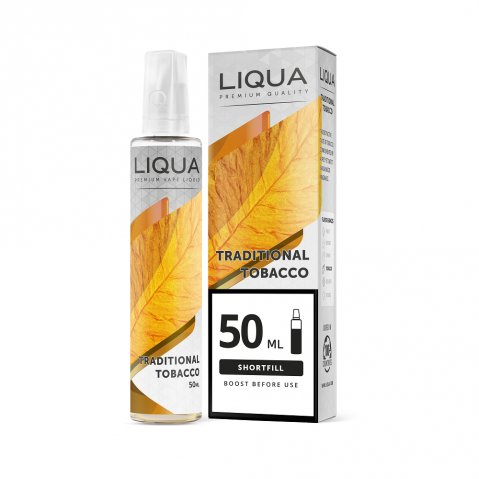 Liqua Mix & Go Traditional Tobacco 50ml (70ml Short Fill) Nicotine Free E-Liquid