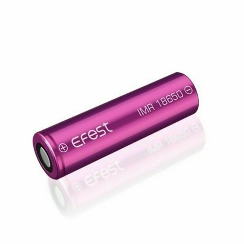 Purple Efest IMR 18650 2100mAh 38A Flat Top Battery