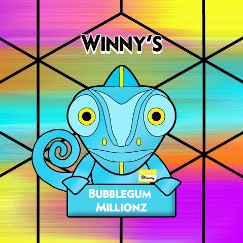 Winny's Bubblegum Millionz 50ml (60ml Short Fill) Nicotine Free E-Liquid
