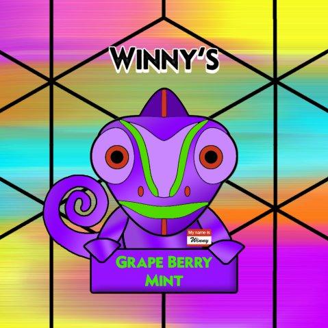 Winny's Grape Berry Mint 50ml (60ml Short Fill) Nicotine Free E-Liquid