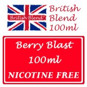 British Blend Berry Blast 100ml Nicotine Free E-Liquid